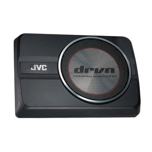 "JVC CW-DRA8 8"" DRVN Series 250W Peak Compact Active Underseat Car Subwoofer - Xcite Audio"