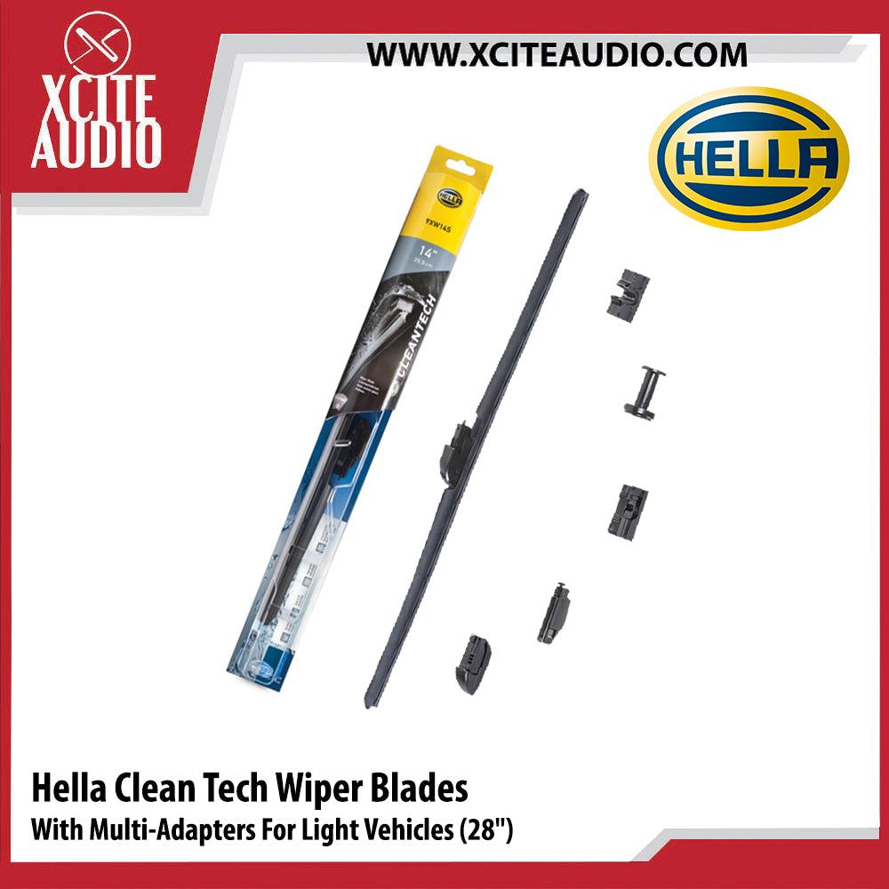 Hella Cleantech Wiper Blades Car Wiper With Multi-Adapters For Mercedes-Benz BMW Audi Perodua Proton Toyota Honda Mazda - Xcite Audio