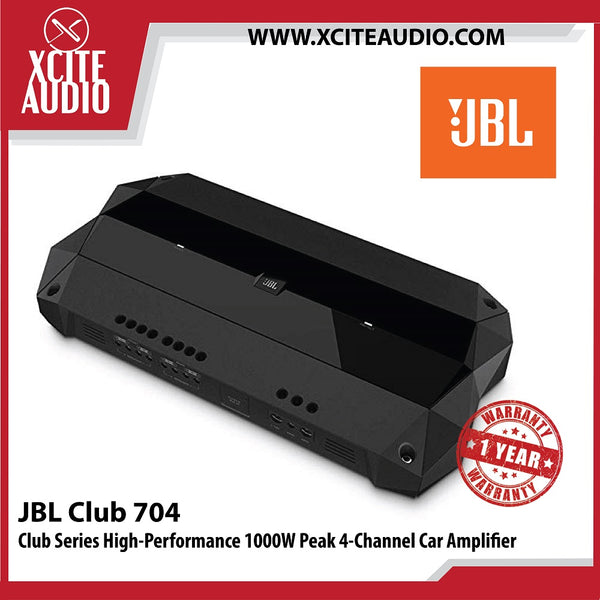 JBL Club 704 Club Series High-Performance 1000W Peak 4-Channel AMP Car Audio Amplifier