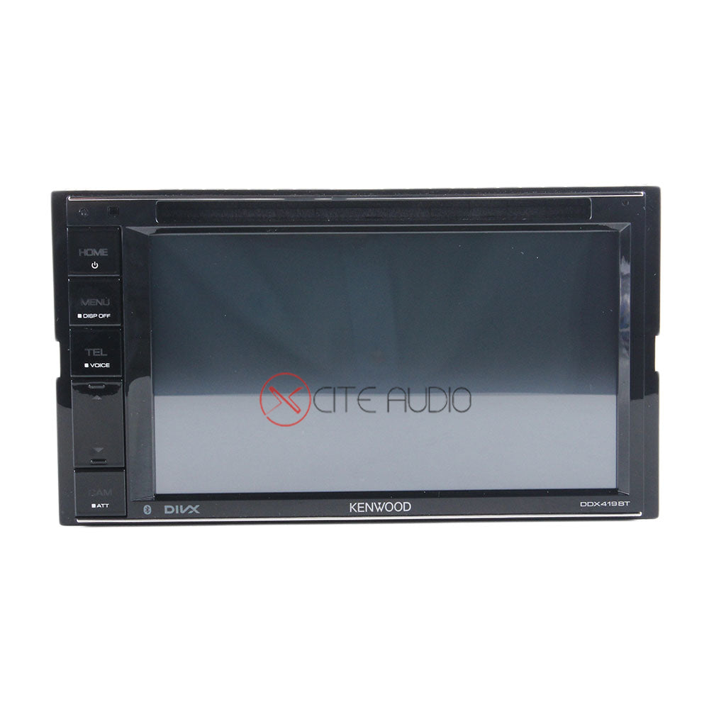 "Kenwood DDX419BT 6.2"" 2-Din Clear Resistive Bluetooth and Digital Time Alignment AV Receiver Car Headunit - Xcite Audio"
