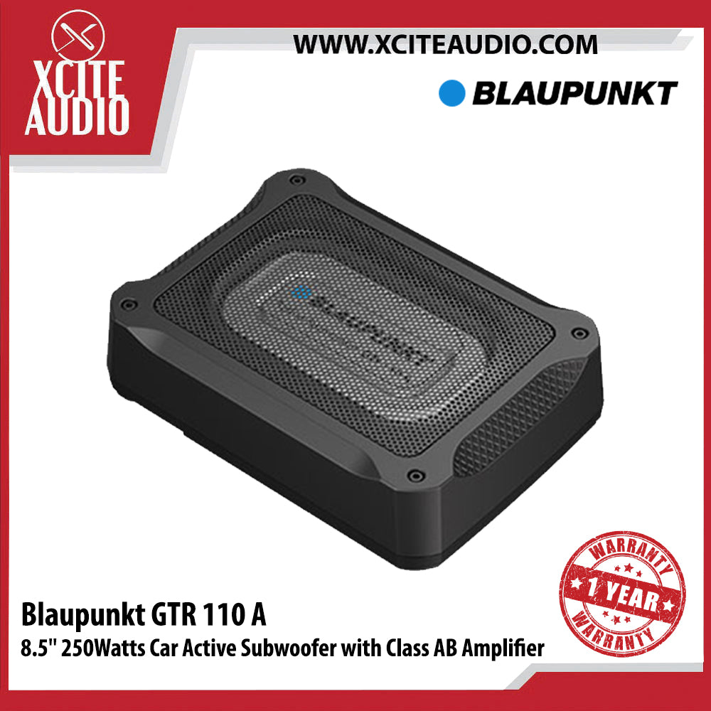 "Blaupunkt GTR 110A 8.5"" 250Watts Car Active Subwoofer with Class AB Amplifier - Xcite Audio"