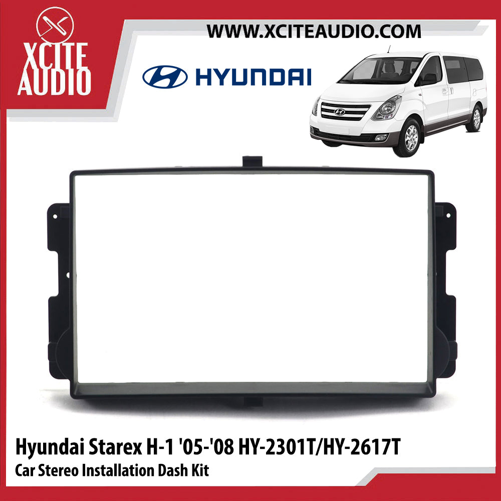 Hyundai Starex H-1 2005-2008 HY-2301T/HY-2617T Double-Din Car Stereo Installation Dash Kit Fascia Kit Car Player Headunit Casing - Xcite Audio