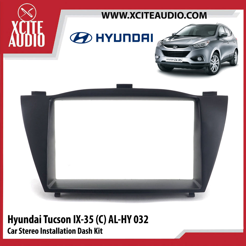 Hyundai Tucson IX-35 (C) AL-HY032 Double-Din Car Stereo Installation Dash Kit Fascia Kit Car Player Headunit Casing - Xcite Audio
