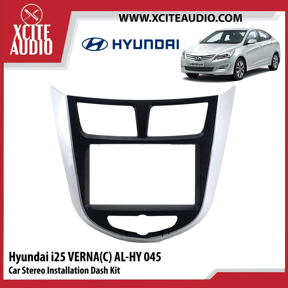 Hyundai i25 Verna (C) AL-HY045 Double-Din Car Stereo Installation Dash Kit Fascia Kit Car Player Headunit Casing - Xcite Audio