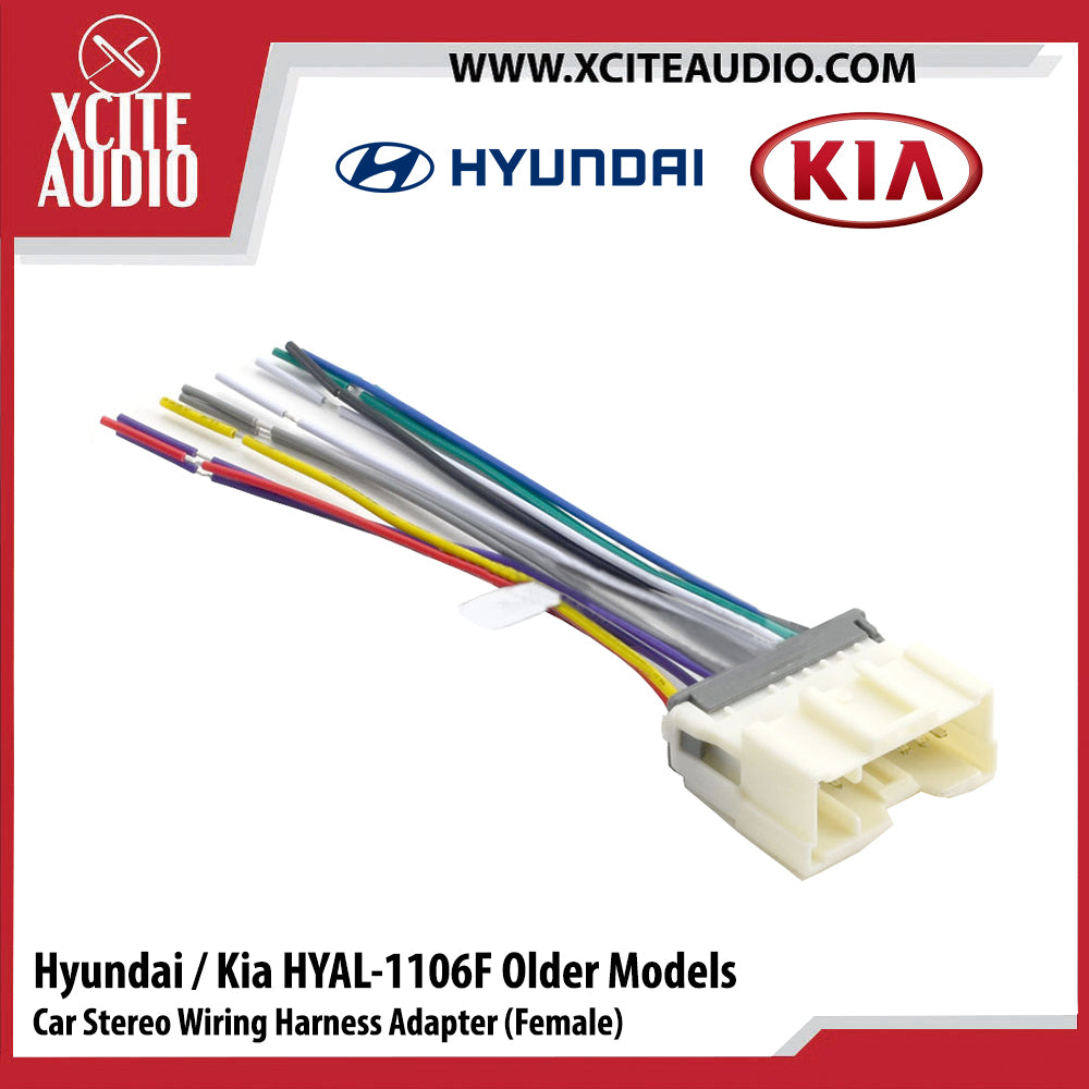 Hyundai / Kia HYAL-1106F Old Models Car Stereo Wiring Harness Adapter/Socket/Cable (Female) - Xcite Audio