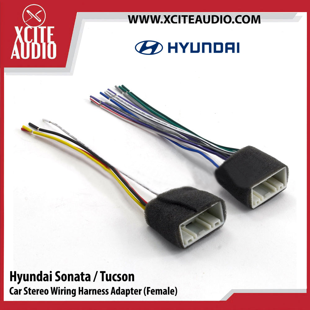 Hyundai Sonata / Tucson HYAL-1143F Car Stereo Wiring Harness Adapter/Socket/Cable (Female) - Xcite Audio