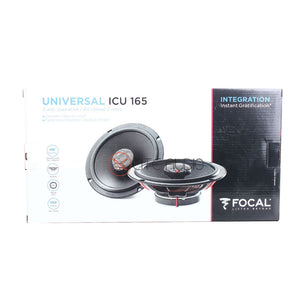 "Focal Universal ICU 165 6.5"" 2-Way 140W Coaxial Car Speakers - Xcite Audio"