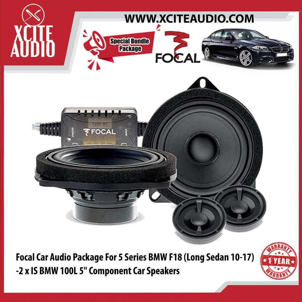 "Focal Car Audio Bundle Package Set 2 for BMW 5 Series (2 x IS BMW 100L 5"" 2-Way Component Car Speakers) - Xcite Audio"