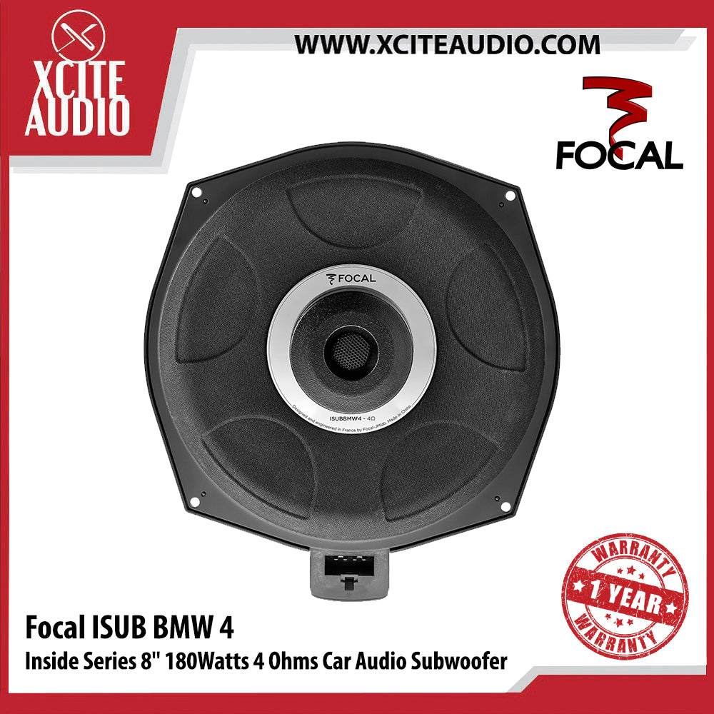 "Focal ISUB BMW 4 Inside Series 8"" 180Watts 4-Ohms Car Audio Subwoofer - Xcite Audio"
