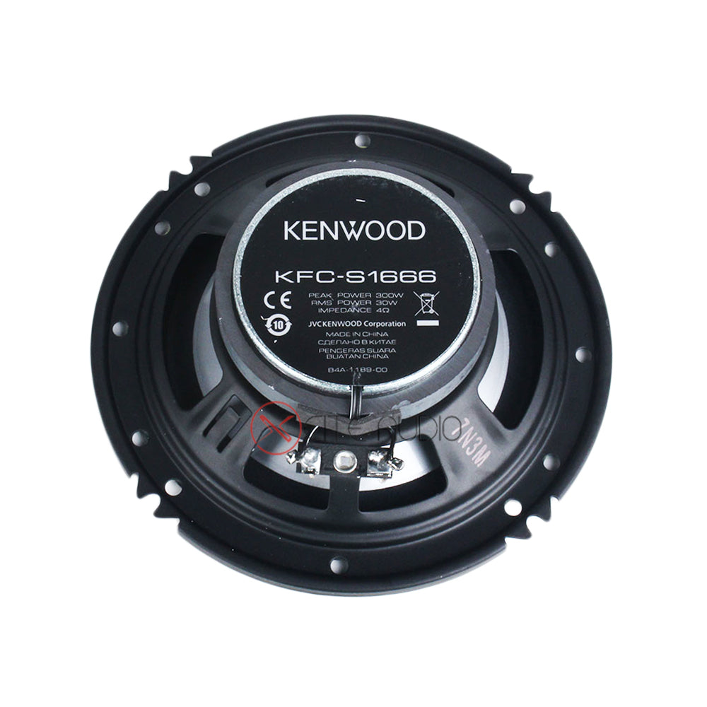 Kenwood KFC-S1666 6.5'' 2-Way 300W Peak Coaxial Car Audio Speakers - Xcite Audio
