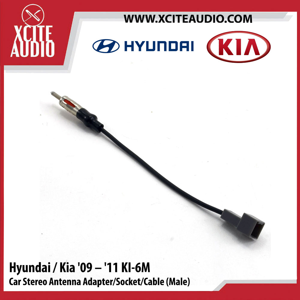 Hyundai / Kia 2009-2011 KI-6M Car Stereo Antenna Adapter/Socket/Cable (Male) - Xcite Audio