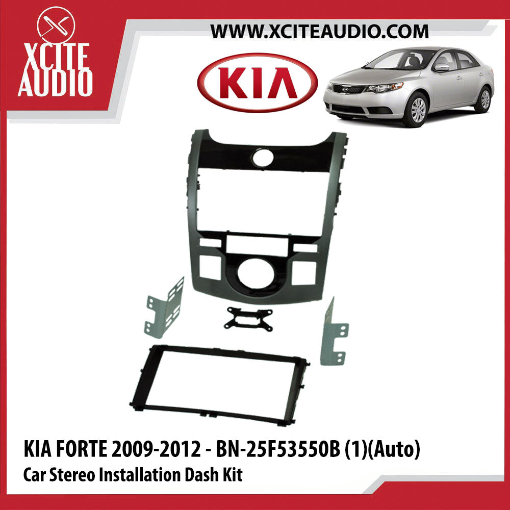 KIA Forte 2009-2012 - BN-25F53550B (1)(AUTO) Double-Din Car Stereo Installation Dash Kit Fascia Kit Car Headunit Player Casing