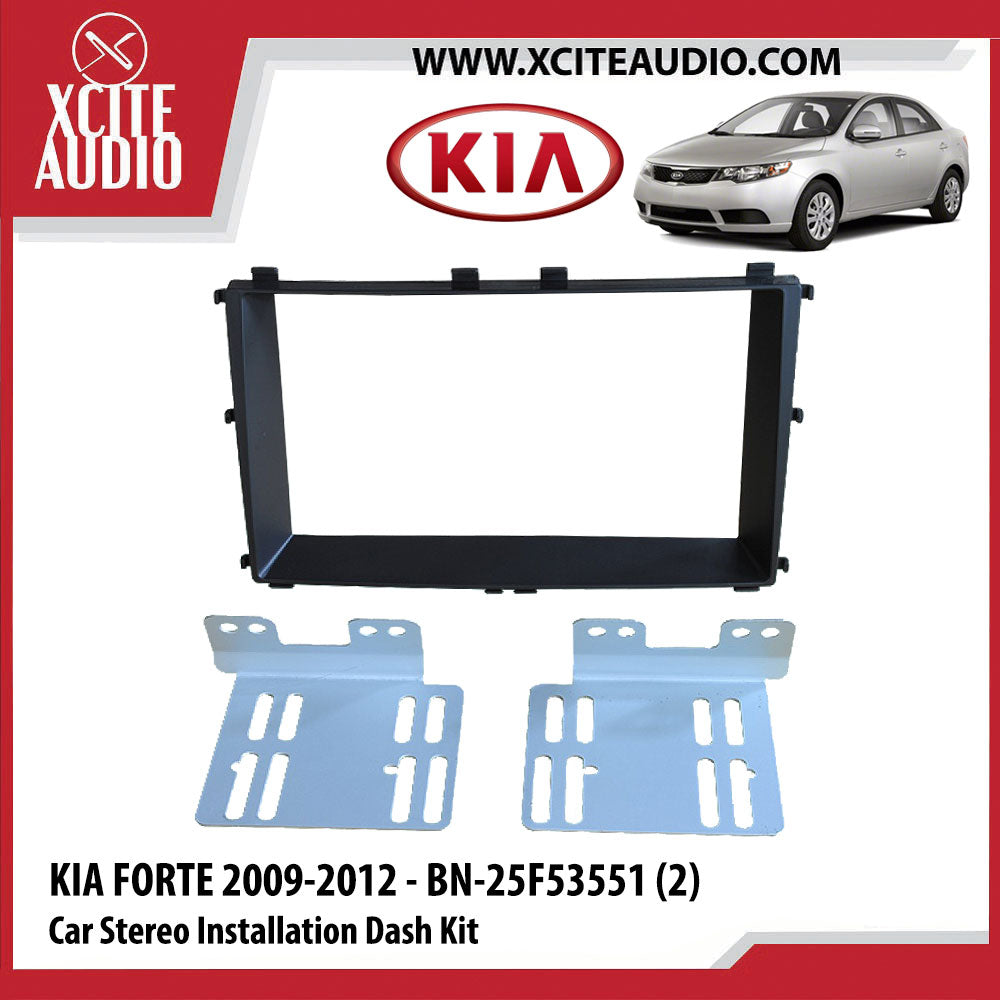 Kia Forte 2009-2012 - BN-25F53551 (2) Double-Din Car Stereo Installation Dash Kit Fascia Kit Car Headunit Player Casing - Xcite Audio
