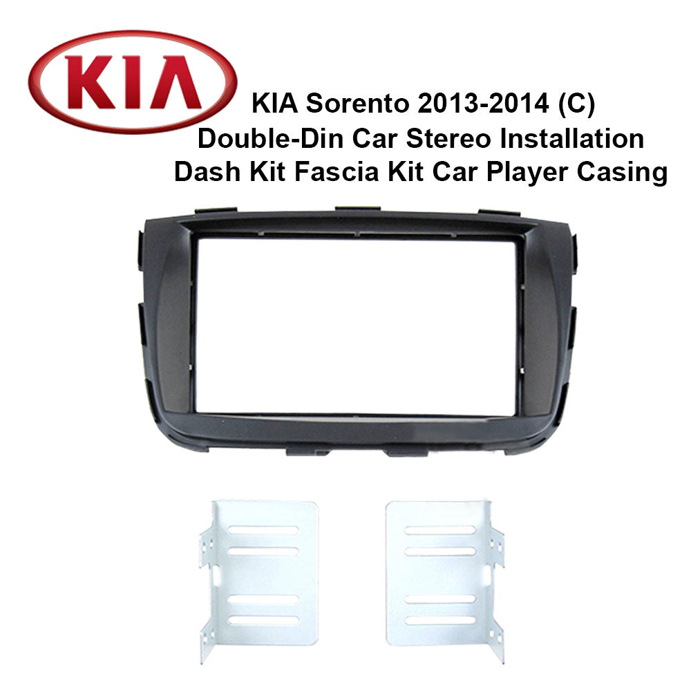 Kia Sorento 2013-2014 (C) AL-KI 026 Double-Din Car Stereo Installation Dash Kit Fascia Kit Car Headunit Player Casing - Xcite Audio