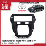 Toyota Harrier Old RX-300 1998-2003 AL-LE001 Single-Din Car Stereo Installation Dash Kit Fascia Kit Car Player Casing Mounting Kit - Xcite Audio