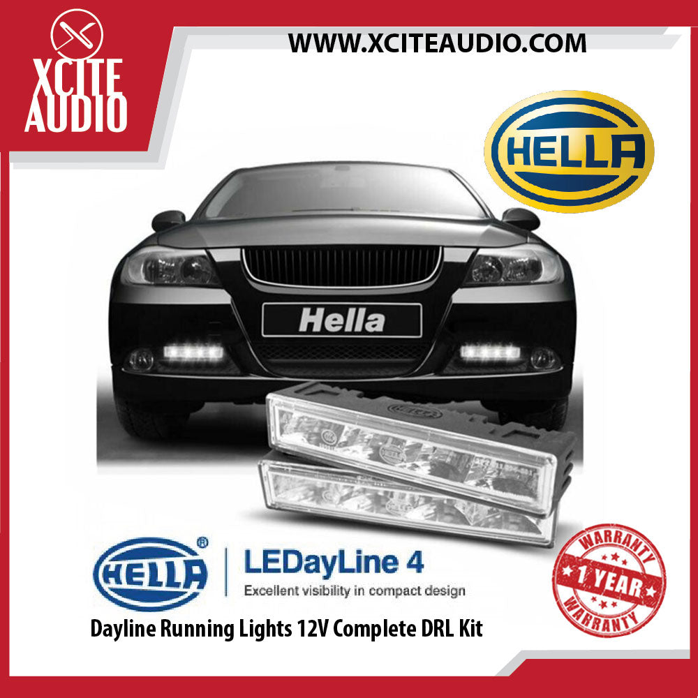 Hella LEDayline 4 Dayline Running Lights 12V Complete DRL Kit - Xcite Audio