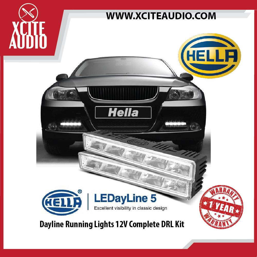 Hella LEDayline 5 Dayline Running Lights 12V Complete DRL Kit - Xcite Audio