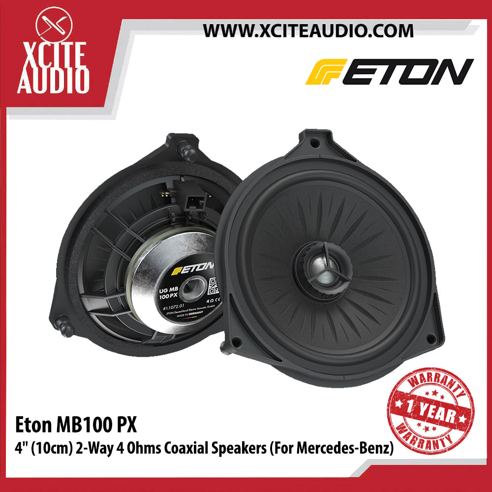 "Eton MB100PX 4"" 2-Way 4 Ohms Plug & Play Coaxial Car Speakers for Mercedes-Benz - Xcite Audio"