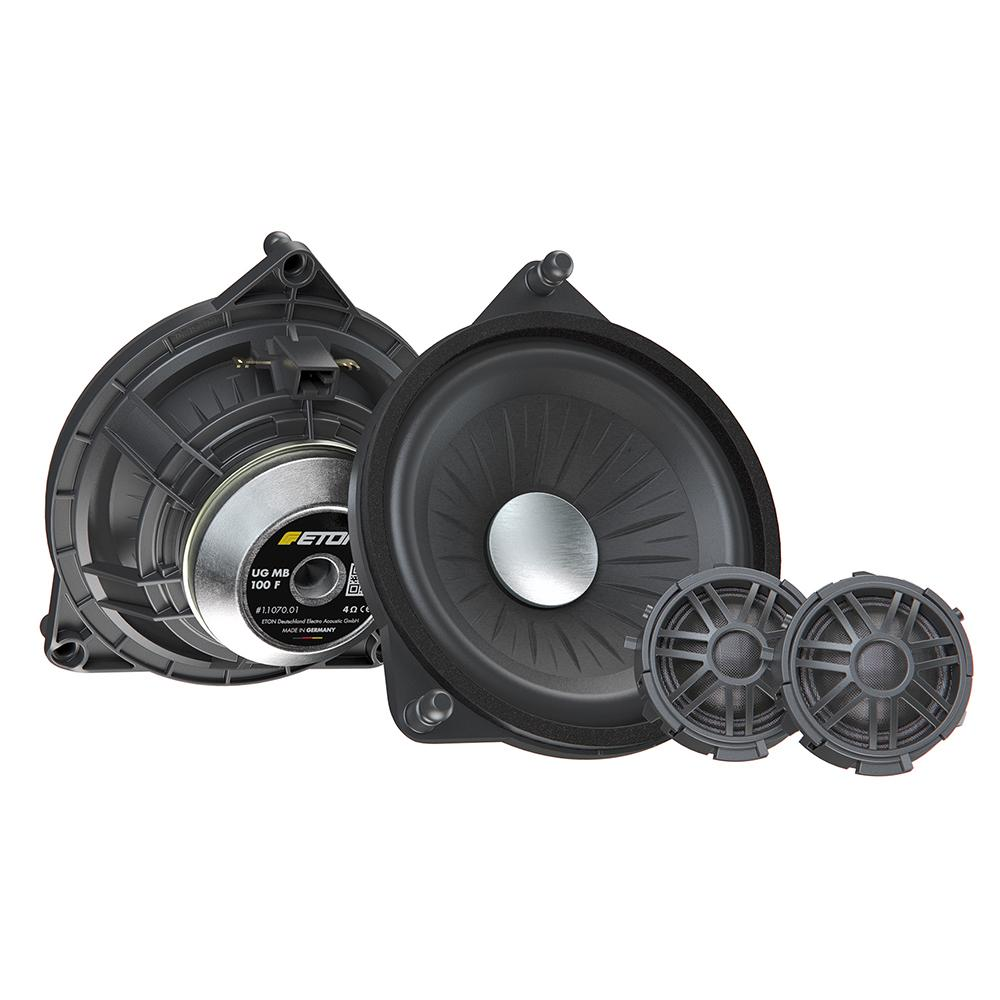 "Eton Car Audio Bundle Package Set 3 for Mercedes-Benz S-Class W222(13) (2 x MB100F 4"" 2-Way Component Car Speakers + 1 x MB100CNX 4"" Center Coaxial Speaker) - Xcite Audio"