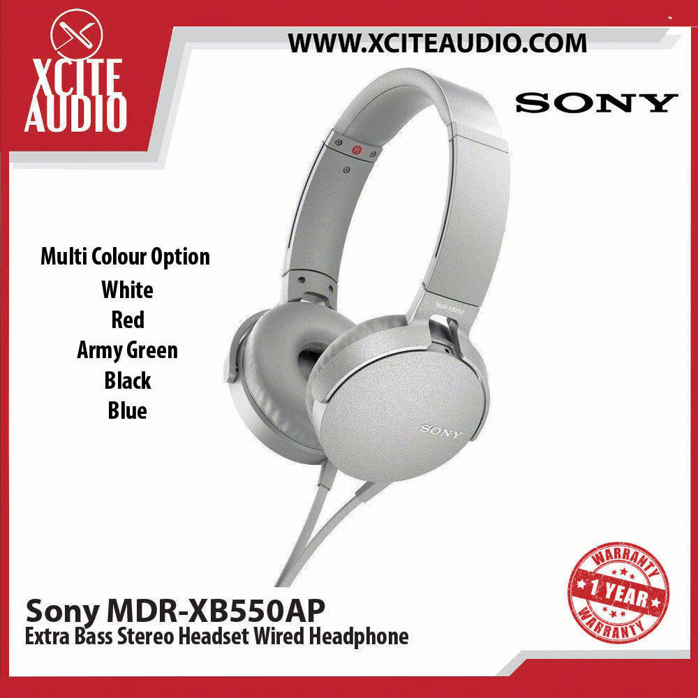 Sony MDR-XB550AP Extra Bass Stereo Headset Wired Headphone Multi Colour
