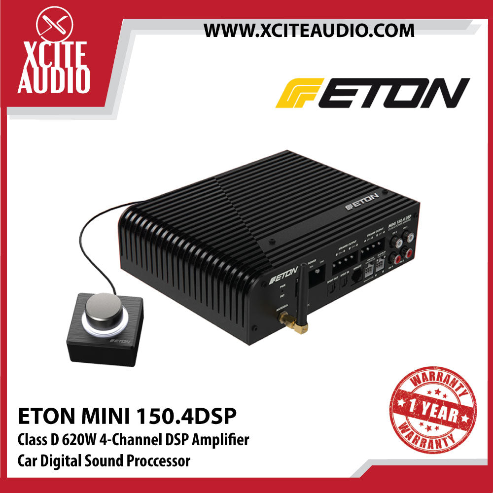 ETON Mini 150.4DSP Class D 620W 4-Channel DSP Amplifier Car Digital Sound Processor