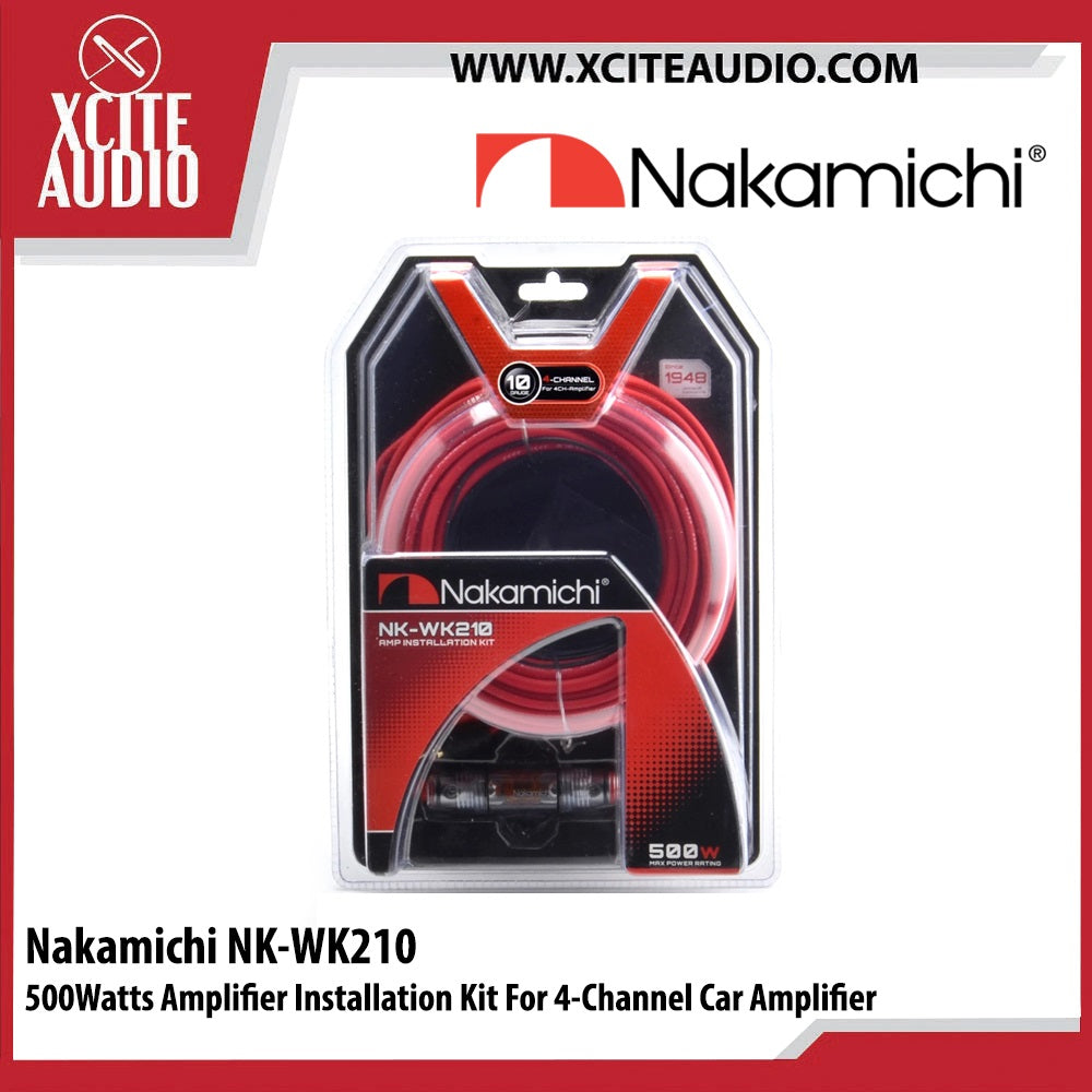 Nakamichi NK-WK210 500Watts Amplifier Installation Kit For 4 Channel Car Amplifier - Xcite Audio