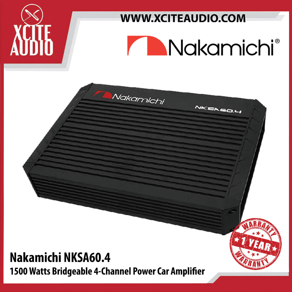 Nakamichi NKSA60.4 1500Watts Bridgeable 4 Channel Power Car Amplifier - Xcite Audio