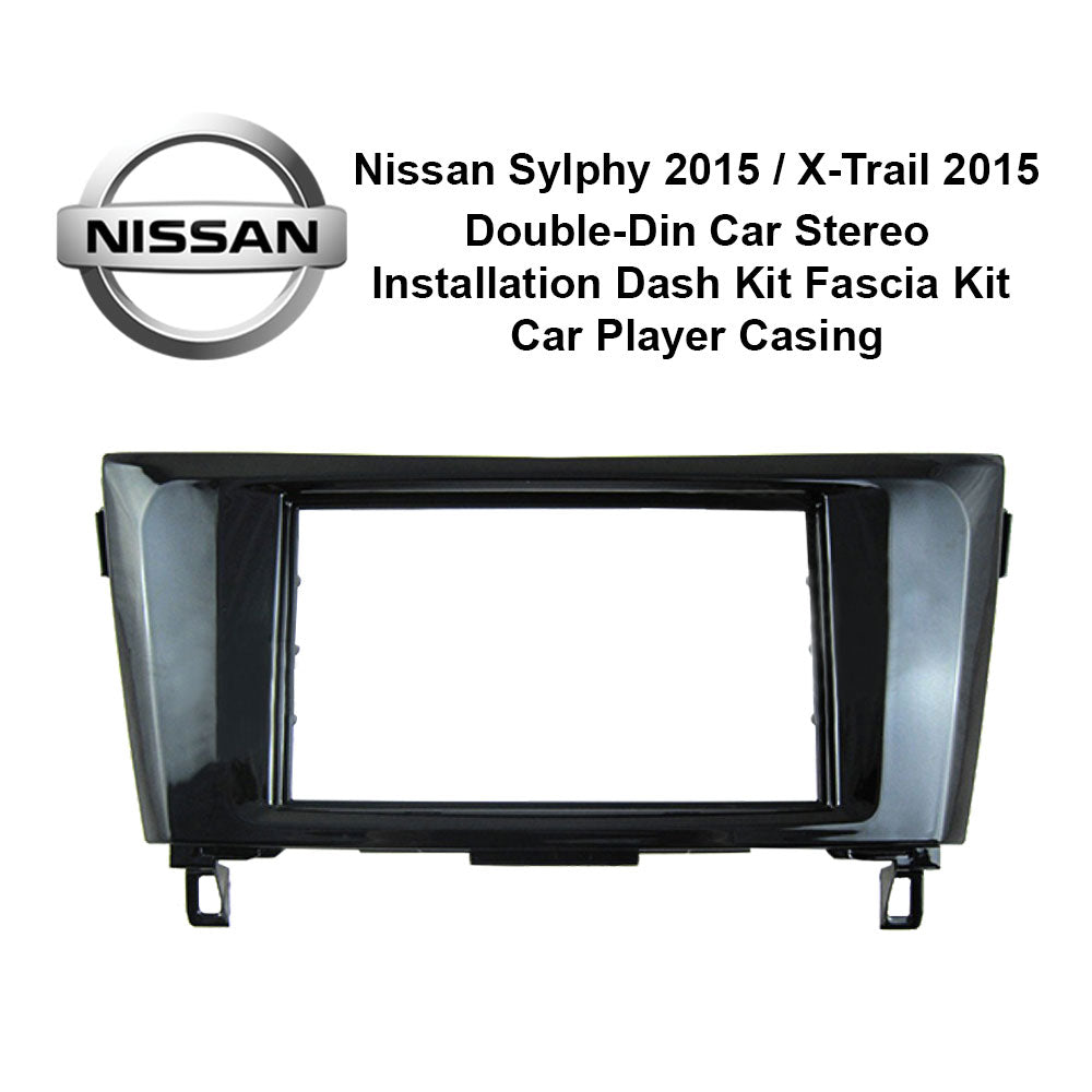 Nissan Sylphy 2015 / X-Trail 2015 (C) AL-NI 023 Double-Din Car Stereo Installation Dash Kit Fascia Kit Car Headunit Player Casing - Xcite Audio