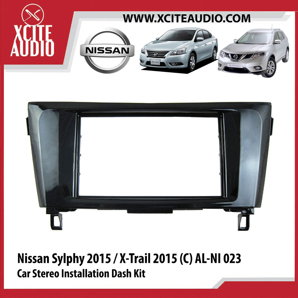 Nissan Sylphy 2015 / X-Trail 2015 (C) AL-NI 023 Double-Din Car Stereo Installation Dash Kit Fascia Kit Car Headunit Player Casing