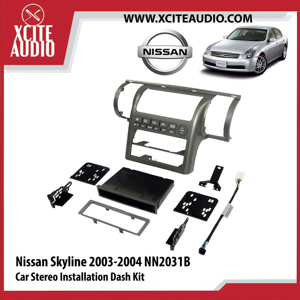 Nissan Skyline 2003-2004 NN2031B Single-Din Car Stereo Installation Dash Kit Fascia Kit Car Headunit Player Casing