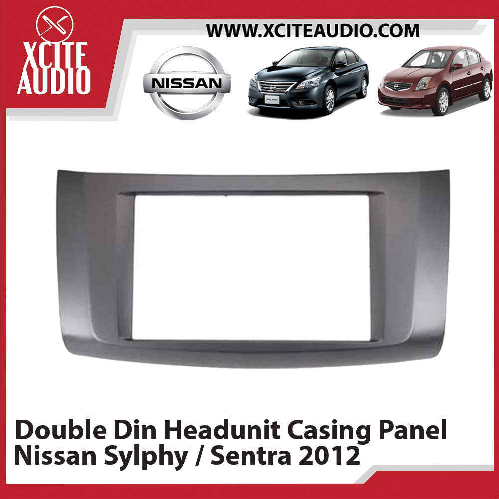 Nissan Sylphy / Sentra 2012 Double Din Car Headunit / Player / Stereo Audio Casing Panel - Xcite Audio
