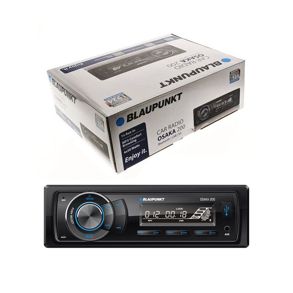 Blaupunkt Osaka 200 Single-Din Bluetooth USB Aux-In MP3 Car Headunit Car Player Car Bluetooth Player - Xcite Audio