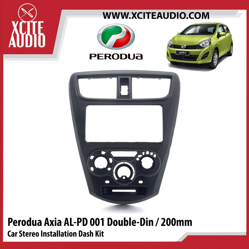 Perodua Axia AL-PD001 Double-Din / 200MM Car Stereo Installation Dash Kit Fascia Kit Car Player Casing Mounting Kit - Xcite Audio