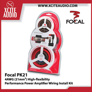 Focal PK21 4 AWG (21mm2) High Flexibility Performance Power Amplifier Wiring Install Kit - Xcite Audio