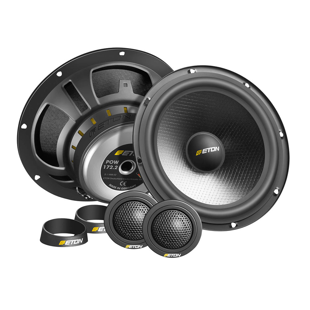 "Eton POW172.2 6.5"" 70Watts 2-Way 3 Ohms Component Car Speakers - Xcite Audio"