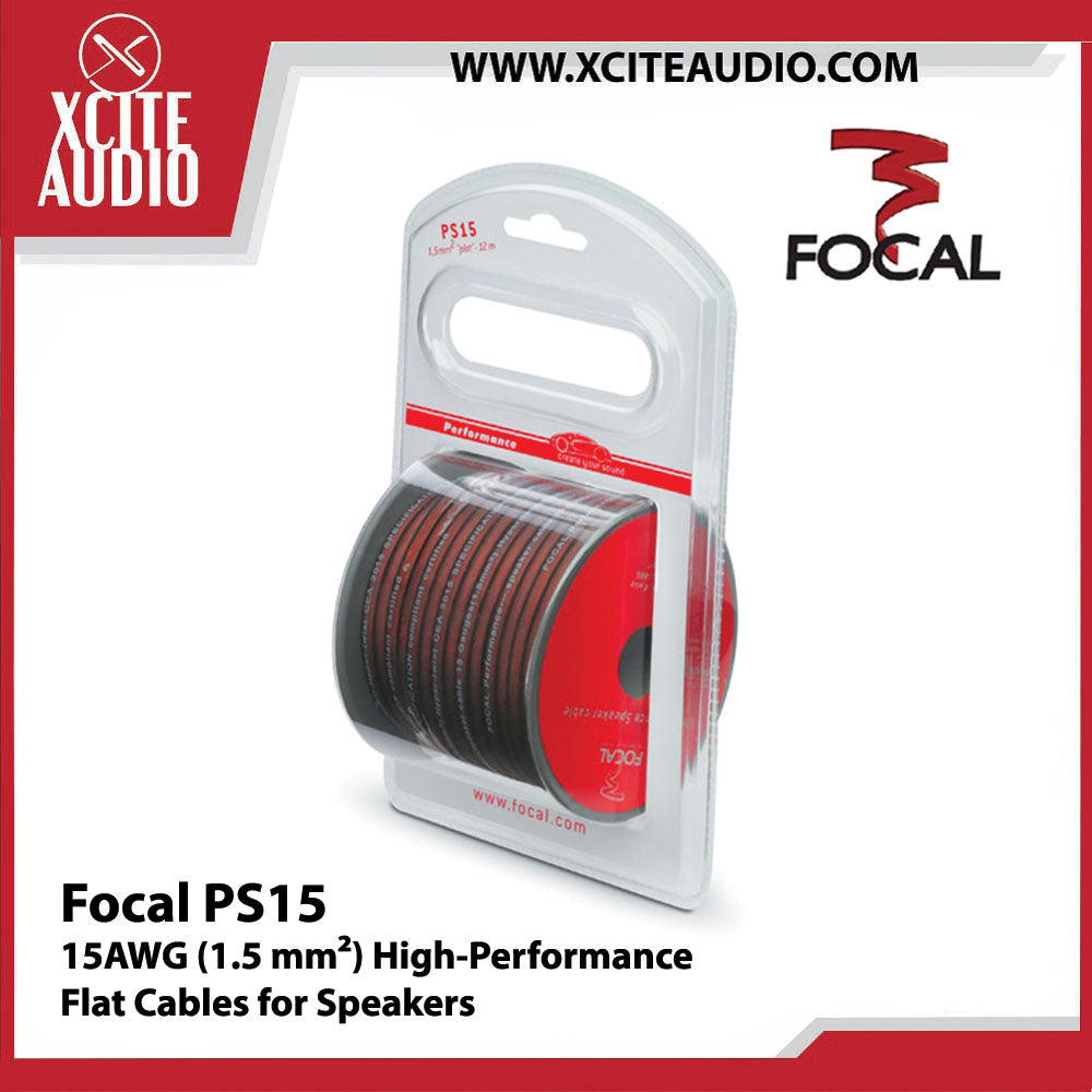 Focal PS15 15 AWG (1.5mm2) High Performance Flat Cable for Speakers - Xcite Audio