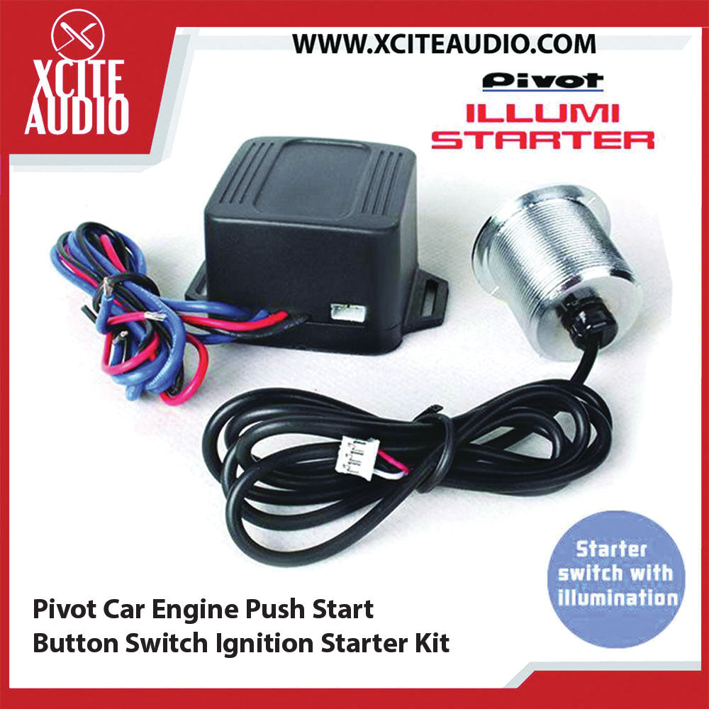 Pivot Car Engine Push Start Button Switch Ignition Starter Kit - Xcite Audio