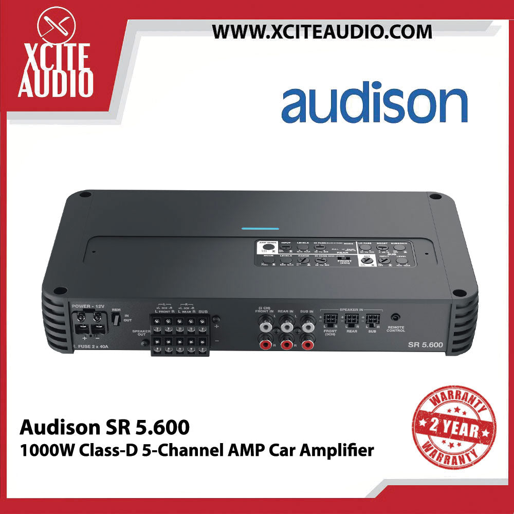 Audison SR 5.600 1000W Class-D 5-Channel Amp Car Amplifier - Xcite Audio