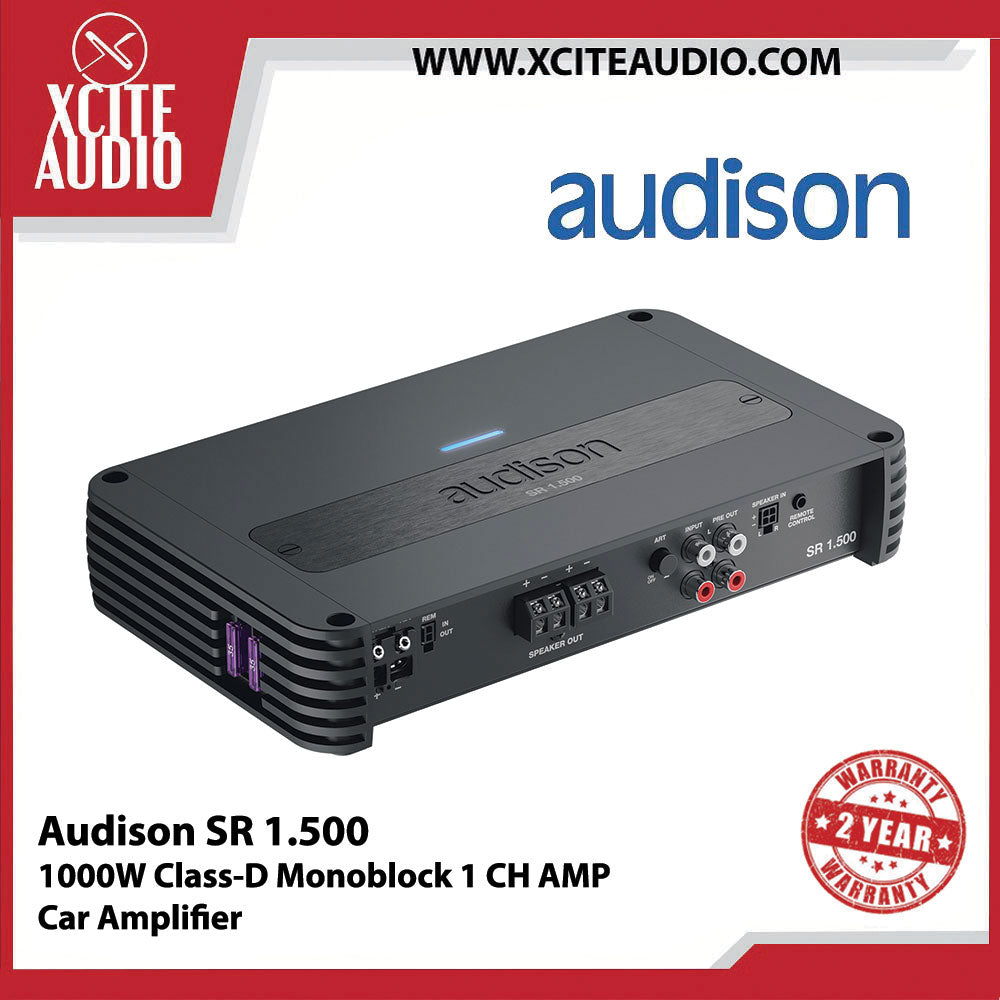 Audison SR 1.500 1000W Class-D Monoblock 1 CH Car Amplifier - Xcite Audio
