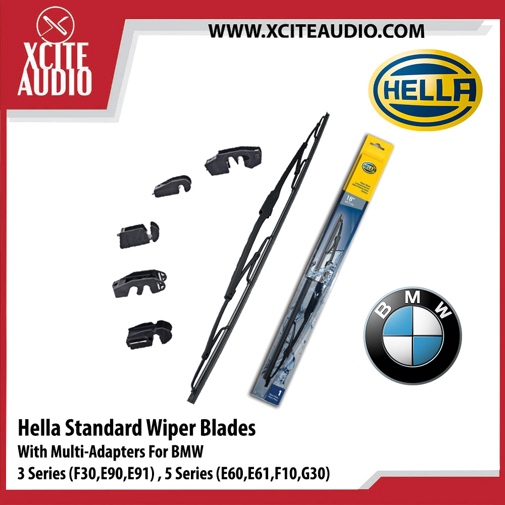 Hella Standard Wiper Blades Car Windshield Wiper With Multi-Adapters For BMW 3 Series F30, E90, E91 & 5 Series E60, E61, F10, G30