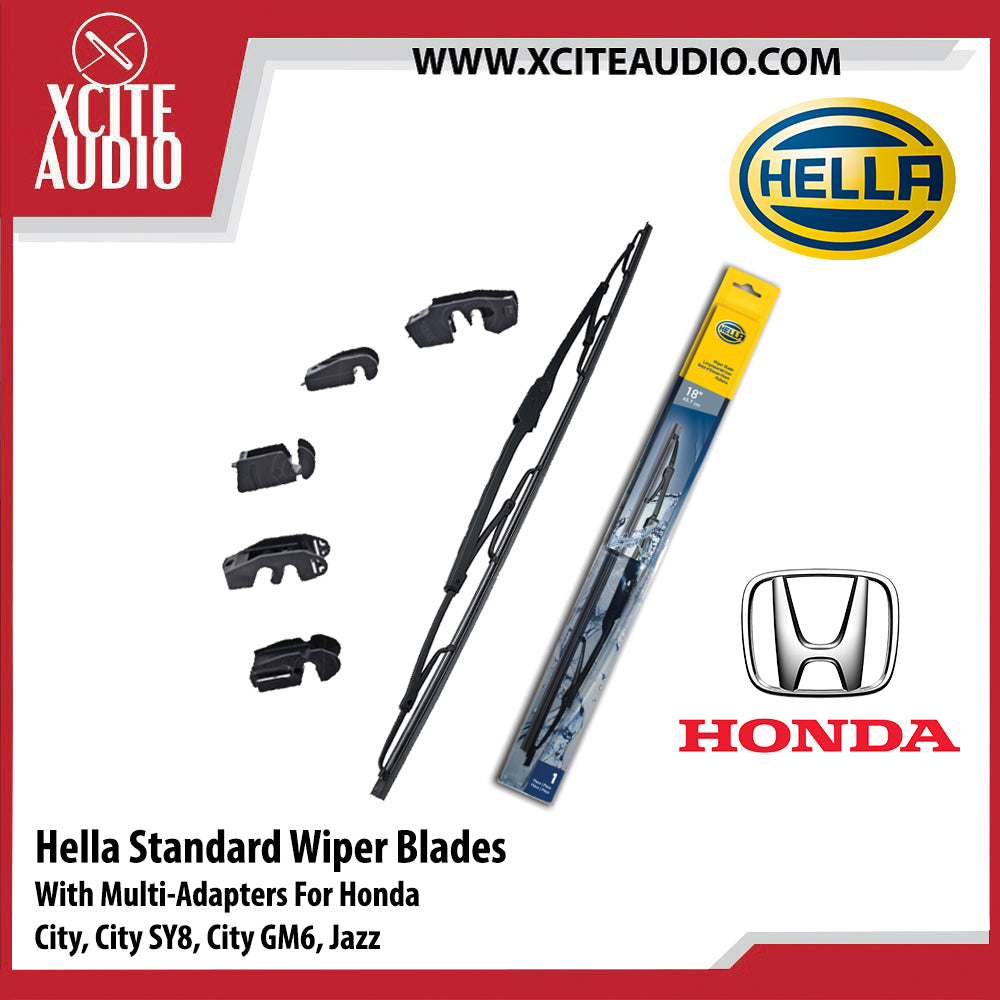 Hella Standard Wiper Blades Car Windshield Wiper With Multi-Adapters For Honda City, City SY-8, City GM6, Jazz