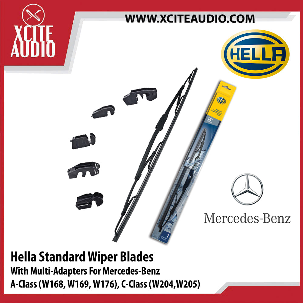 Hella Standard Wiper Blades Car Windshield Wiper With Multi-Adapters For Mercedes-Benz A Class & C Class