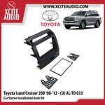 Toyota Land Cruiser 200 2008-2012 AL-TO033 Double-Din Car Stereo Installation Dash Kit Fascia Kit Car Player Casing Mounting Kit - Xcite Audio