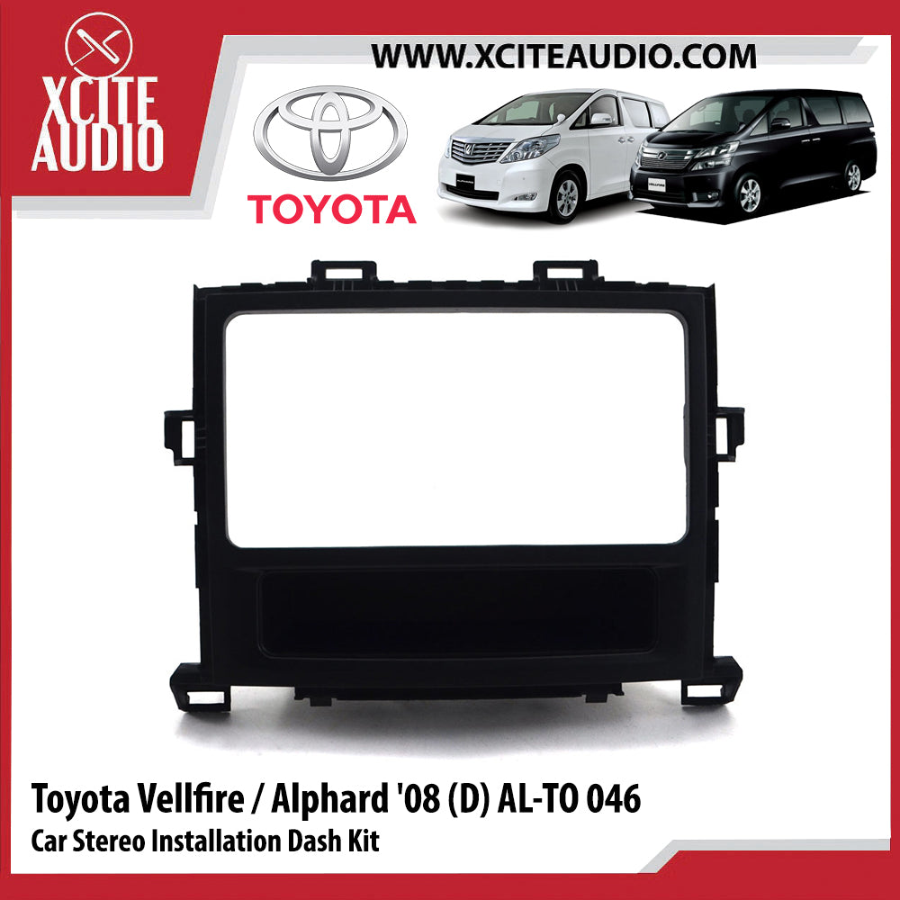 Toyota Vellfire / Toyota Alphard 2008 AL-TO046 Double-Din Car Stereo Installation Dash Kit Fascia Kit Car Player Casing Mounting Kit - Xcite Audio