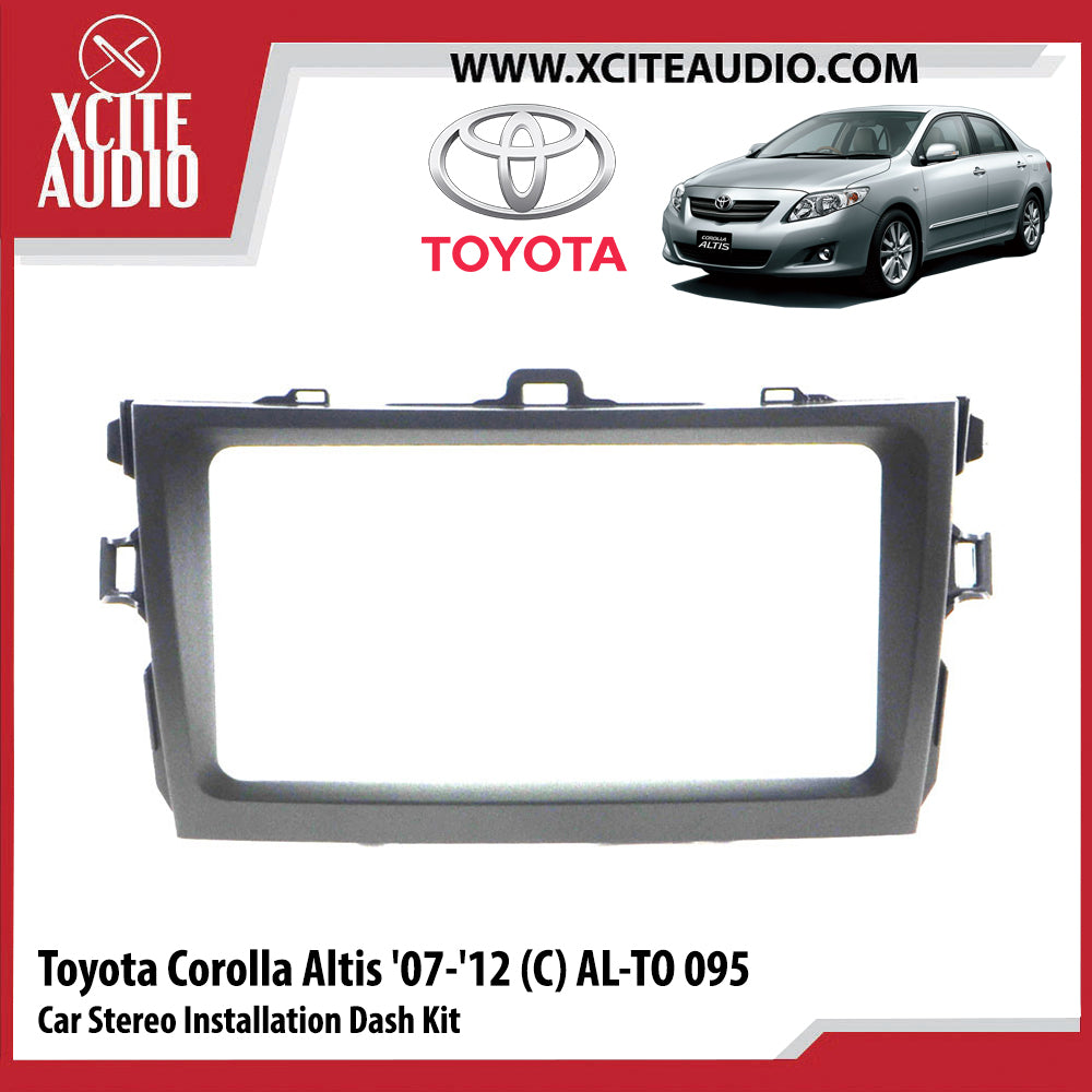 Toyota Corolla Altis 2007-2012 AL-TO095 Double-Din Car Stereo Installation Dash Kit Fascia Kit Car Player Casing Mounting Kit - Xcite Audio