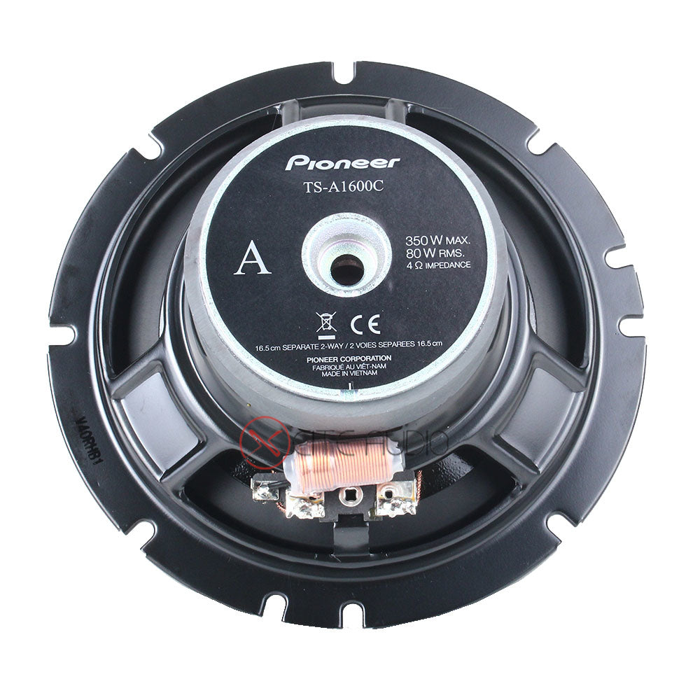 "Pioneer TS-A1600C 6.5"" 2-Way 350Watts 4-Ohms Component Car Speakers - Xcite Audio"