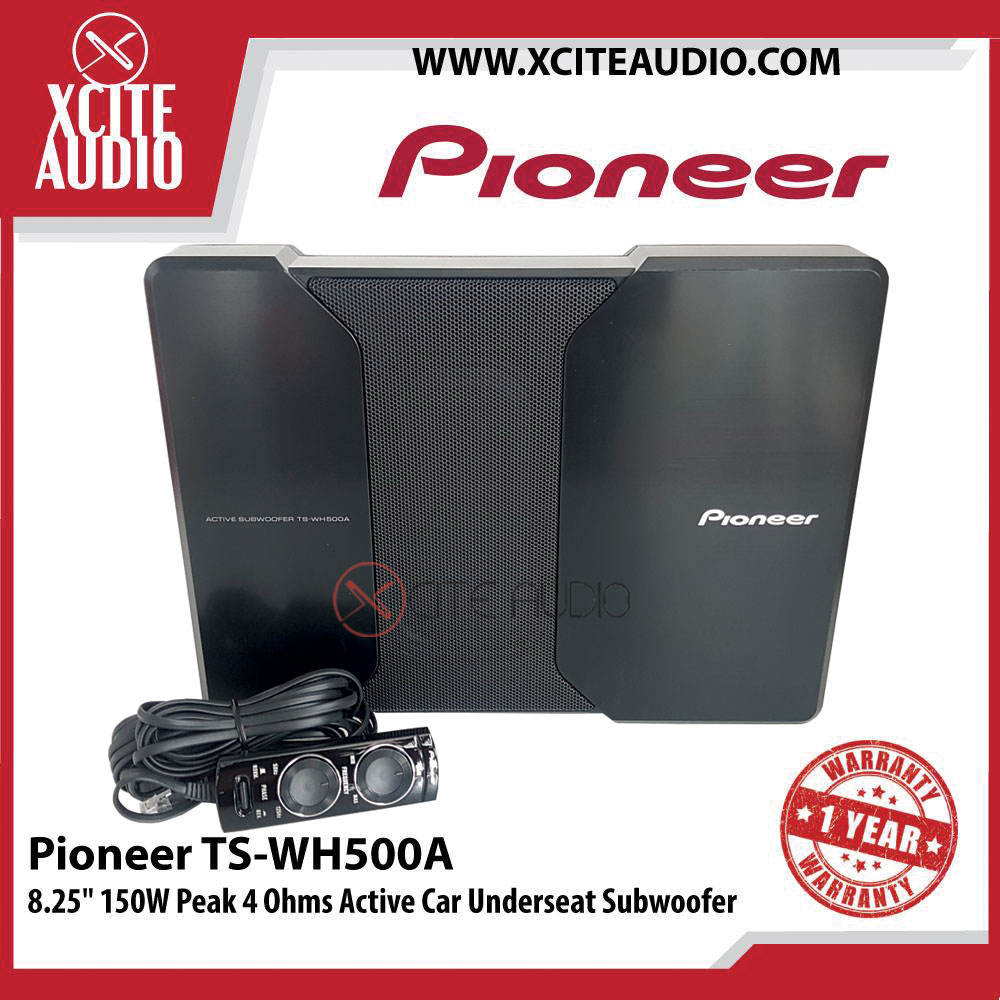 "Pioneer TS-WH500A 8.25"" 150W Peak with HVT Sealed 4 Ohms Active Car Underseat Subwoofer - Xcite Audio"