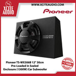 "Pioneer TS-WX306B 12"" 30cm Pre-Loaded in Sealed Enclosure (1300W) Car Subwoofer - Xcite Audio"