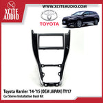 Toyota Harrier 2014-2015 (OEM JAPAN) TY17 Double-Din Car Stereo Installation Dash Kit Fascia Kit Car Player Casing Mounting Kit - Xcite Audio