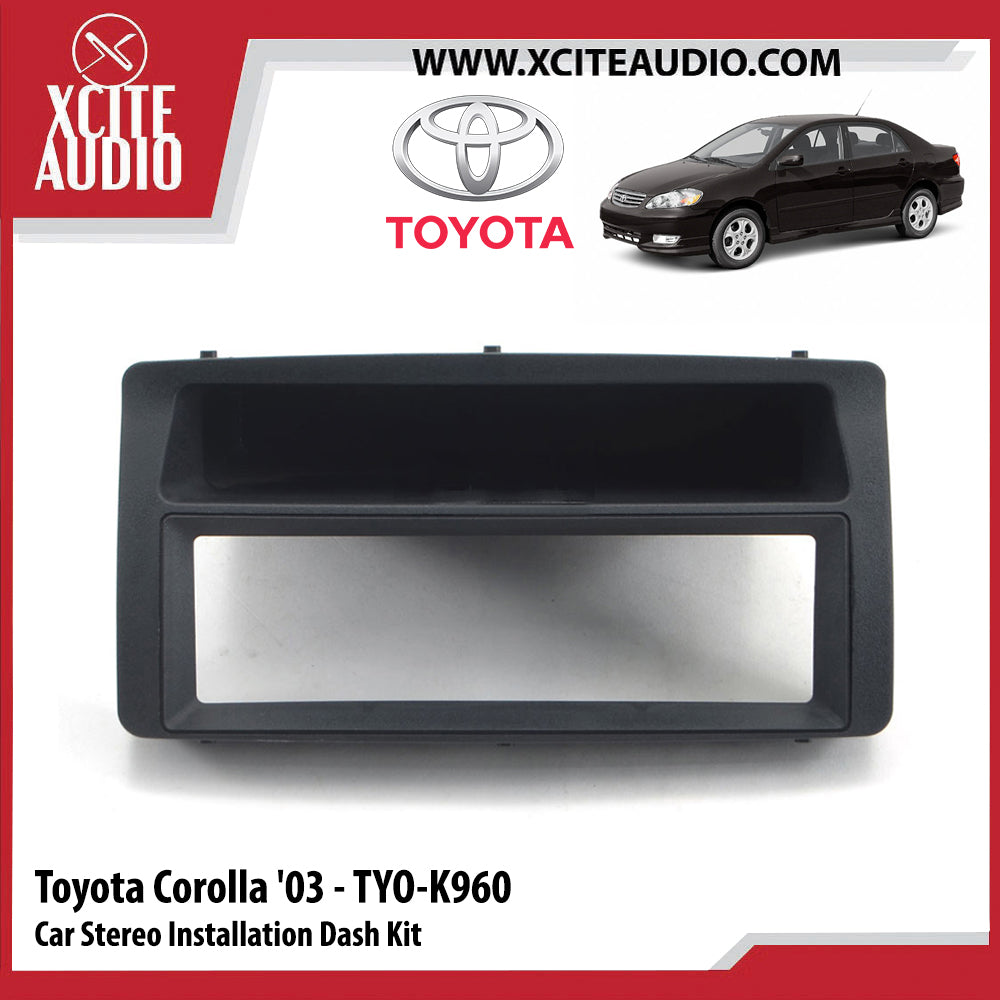 Toyota Corolla 2003 TYO-K960 Single-Din Car Stereo Installation Dash Kit Fascia Kit Car Player Casing Mounting Kit - Xcite Audio